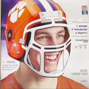 2 Clemson Tigers FanHeads College Football Helmet